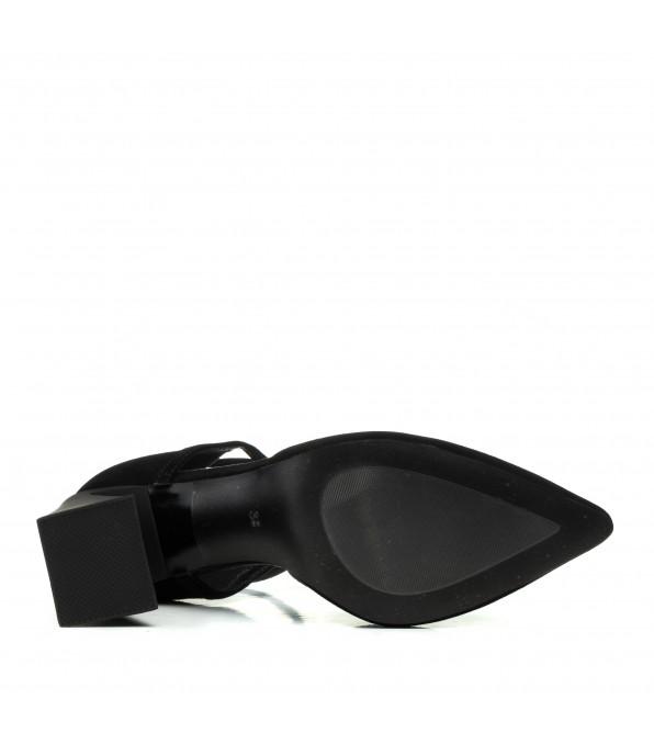 Босоніжки жіночі чорні замшеві на високому каблуці Angelo Vera