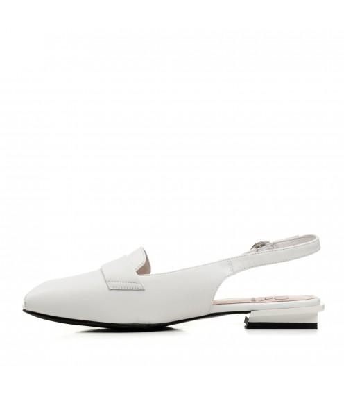 Босоніжки жіночі шкіряні білі Molka