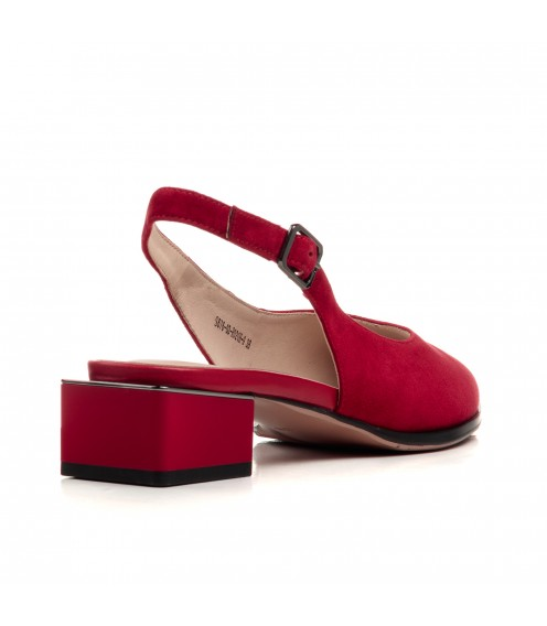 Босоніжки жіночі замшеві червоні Lady marcia