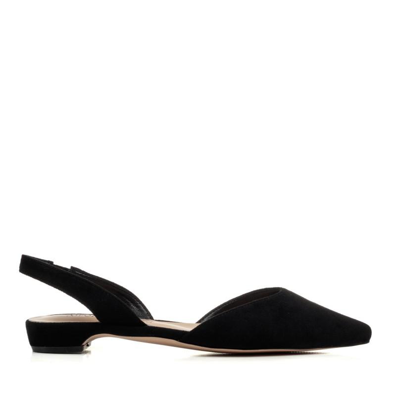 Босоніжки жіночі чорні з гострим носком Aiformaria