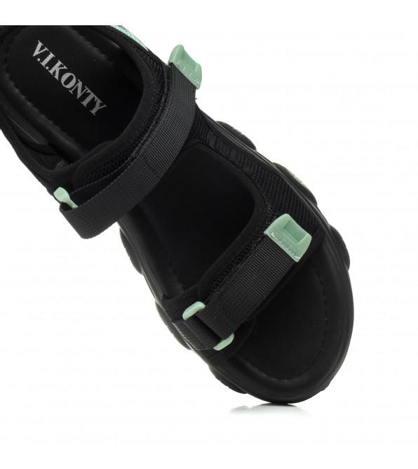 Босоніжки жіночі чорні спортивні V.I.Konty