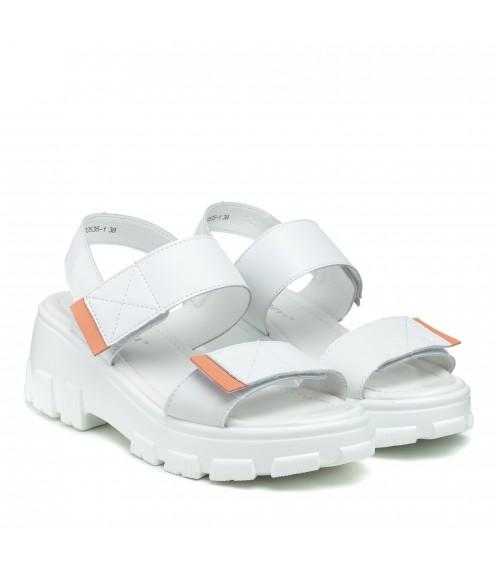 Босоніжки білі на платформі Lifexpert