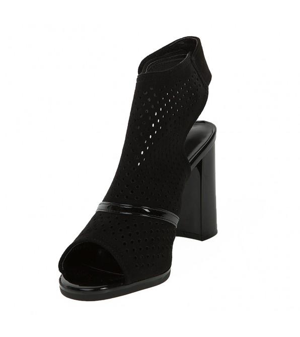 Босоножки женские замшевые на высоком каблуке Lorbracsa