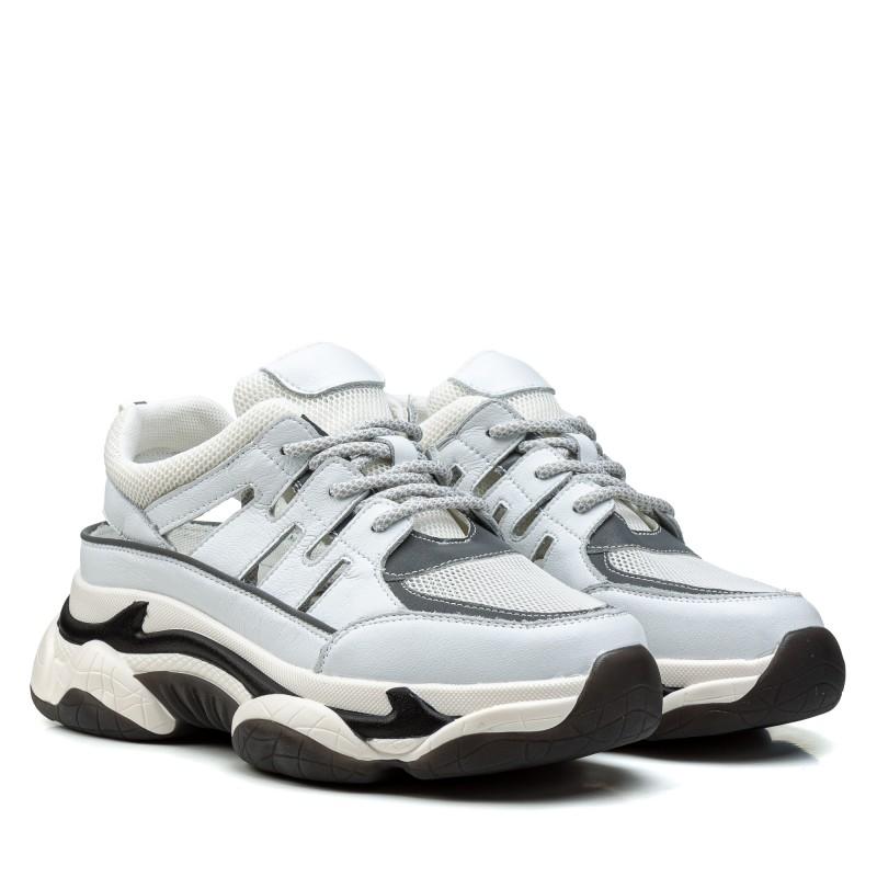 Кросівки жіночі білі на платформі Gifanni