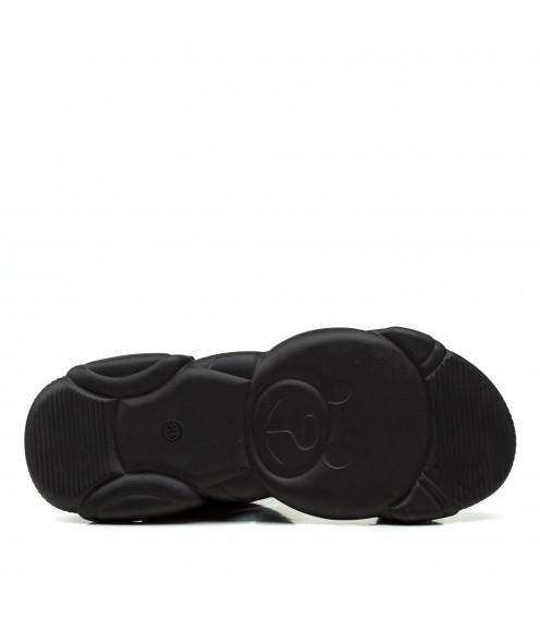 Босоніжки жіночі чорні спортивні на платформі Gifanni