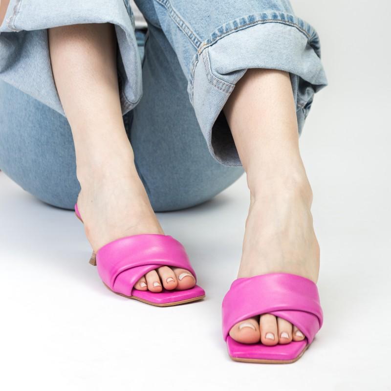 Шльопанці жіночі шкіряні рожеві Mario muzi
