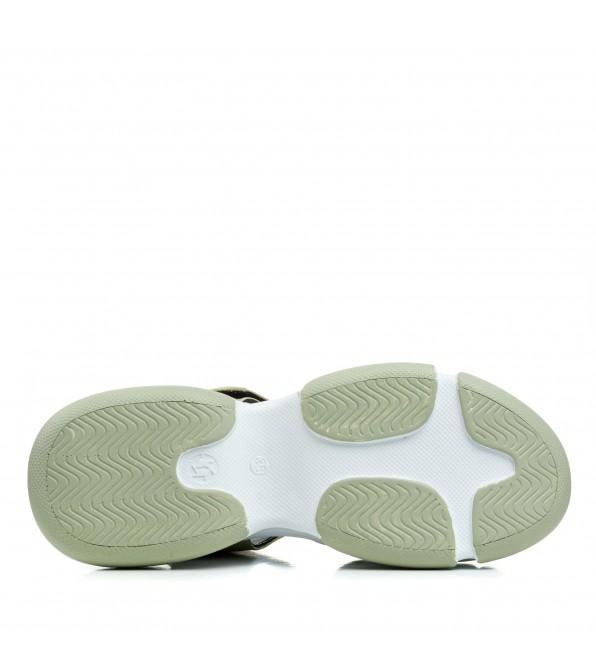 Босоніжки жіночі шкіряні спортивні на платформі Evromoda