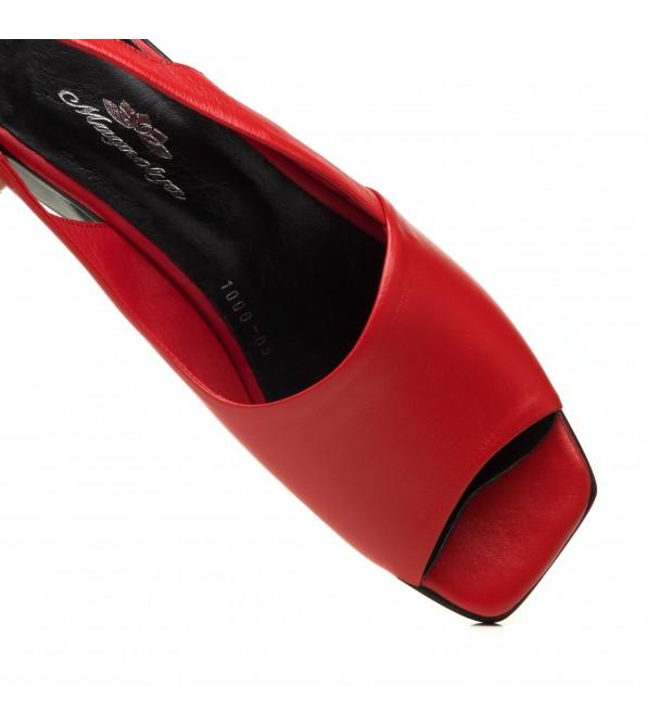 Босоніжки шкіряні червоні Magnolya