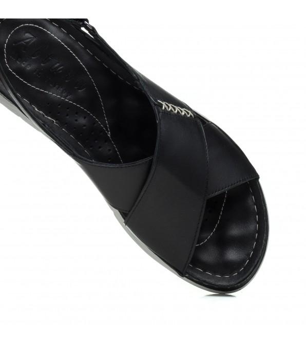 Босоніжки жіночі чорні шкіряні altura