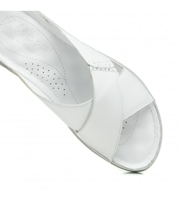 Сабо жіночі білі шкіряні altura