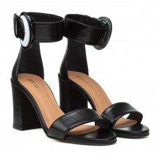 Босоножки женские кожаные на высоком толстом каблуке Visconi