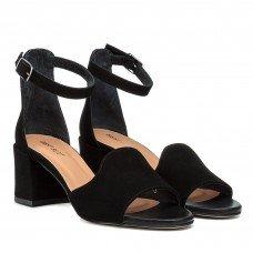 Босоножки женские замшевые на толстом каблуке Visconi
