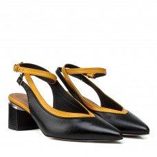 Босоножки женские кожаные на низком толстом каблуке Visconi