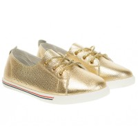 Туфли женские  золотистые на низком ходу Lifexpert
