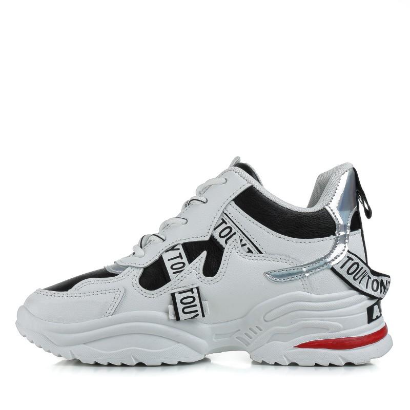Кросівки жіночі білі зручні на високій підошві Linda