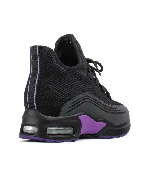 Кросівки жіночі чорні високі на платформі Linda