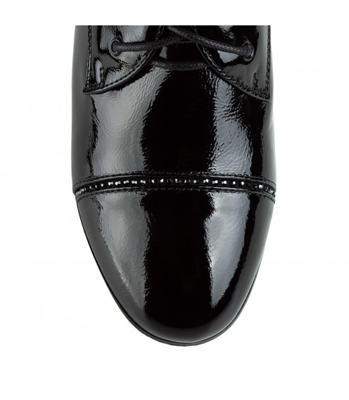 Туфлі жіночі шкіряні лакові на низькому каблуку