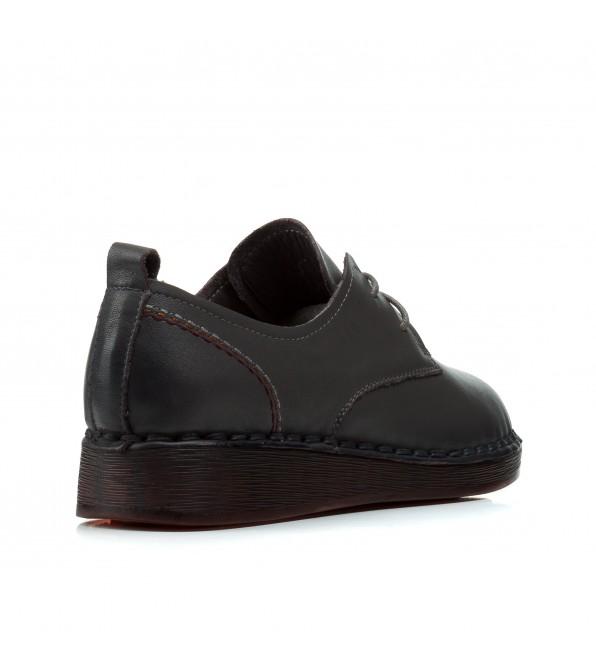 Туфлі жіночі шкіряні сірі на низькому ходу Meegocomfort