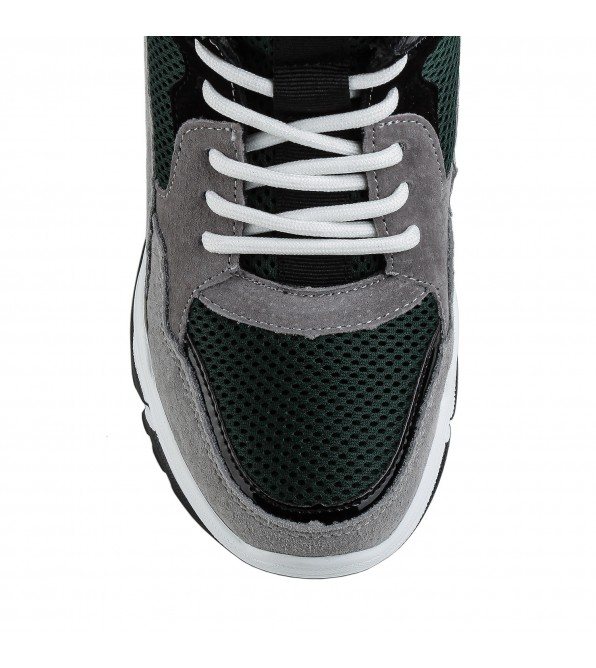 Кросівки жіночі зелені на зручній платформі Lifexpert