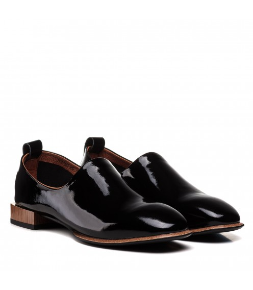 Туфлі жіночі шкіряні на низькому ходу Brocoli