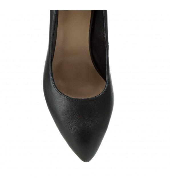 Туфлі жіночі шкіряні зелені на високому каблуку