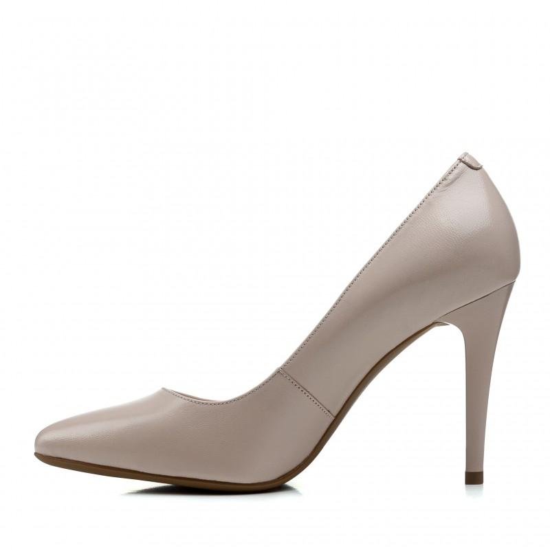 Туфлі жіночі шкіряні бежеві на шпильці Lady Marcia