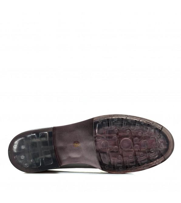 Туфлі жіночі шкірняні срібні на низькому каблуку