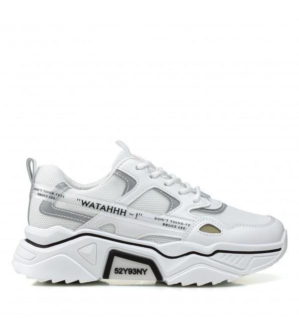Кросівки жіночі  білі на платформі Prima darte