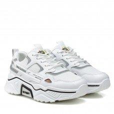 Кроссовки женские  белые на платформе Prima darte