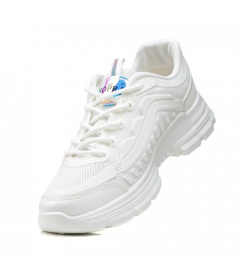 Кросівки жіночі білі  на платформі Sopra