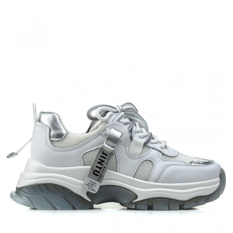 Кросівки жіночі білі на танкетці комфортні Farinni
