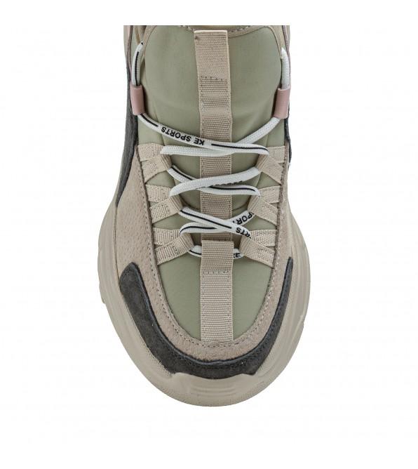 Кросівки жіночі сірі на високій платформі Gifanni