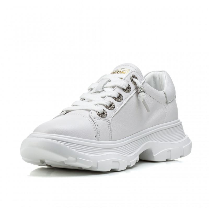 Кросівки жіночі білі зручні на платформі Gifanni