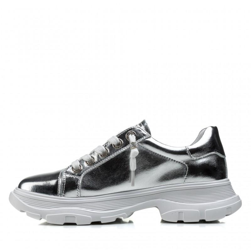 Кросівки жіночі срібні зручні на платформі Gifanni