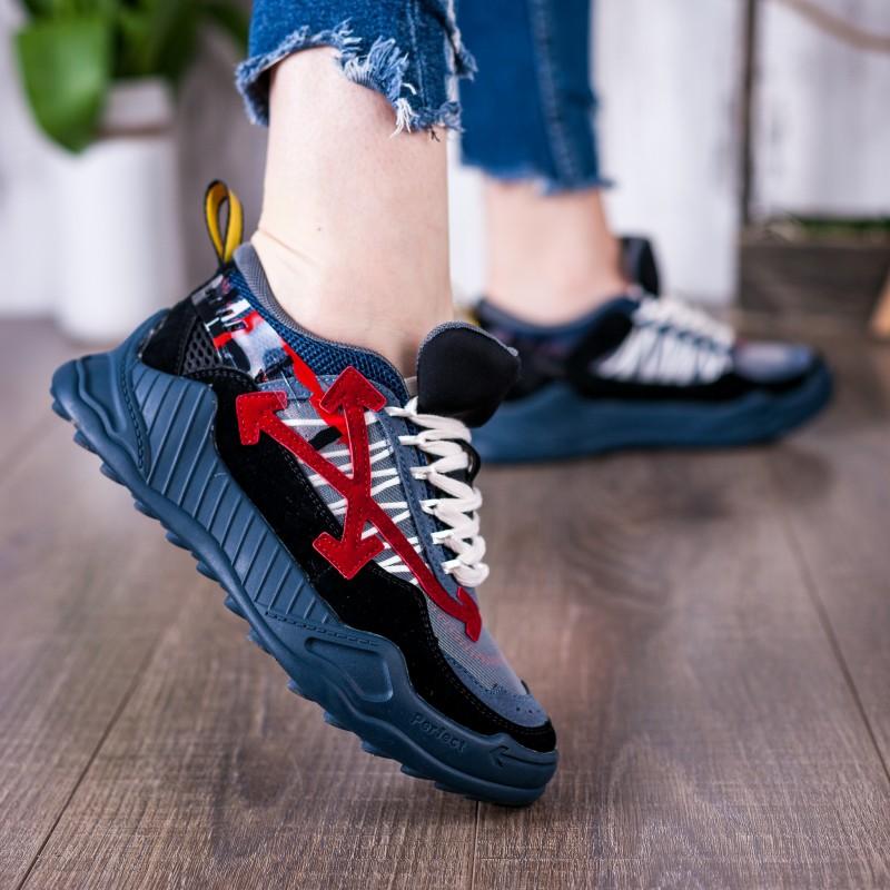 Кросівки жіночі сині зручні на платформі Gifanni