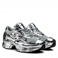 Кроссовки женские серебряные на платформе Gifanni