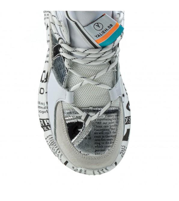 Кросівки жіночі білі на високій платформі комфортні Lifexpert