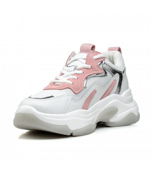 Кросівки жіночі білі на платформі Lifexpert
