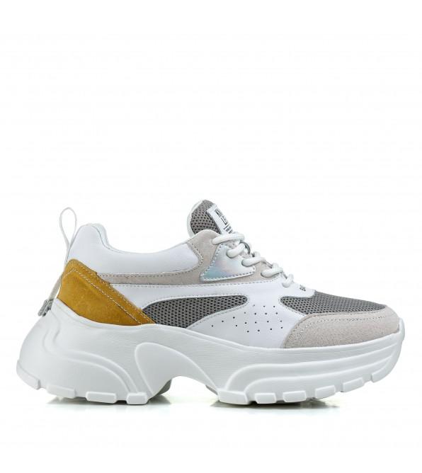 Кросівки жіночі білі на високій платформі Lifexpert