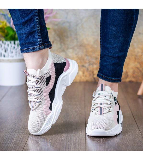 Кросівки жіночі бежеві  на високій підошві Lifexpert