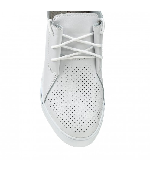 Туфлі жіночі літні білі на танкетці Lifexpert