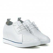 Туфли женские летние белые на танкетке Lifexpert