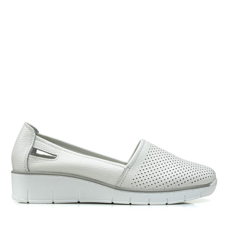 Туфлі жіночі білі на платформі літні Lifeexpert