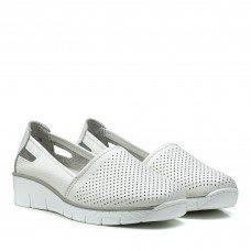 Туфли женские белые на платформе летние Lifeexpert