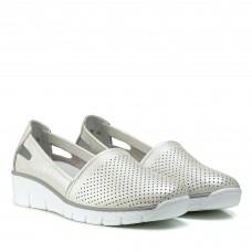 Туфли женские кожаные на платформе летние Lifeexpert