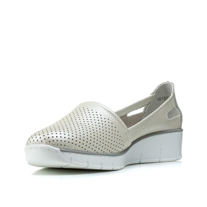 Туфлі жіночі шкіряні на платформі літні Lifeexpert