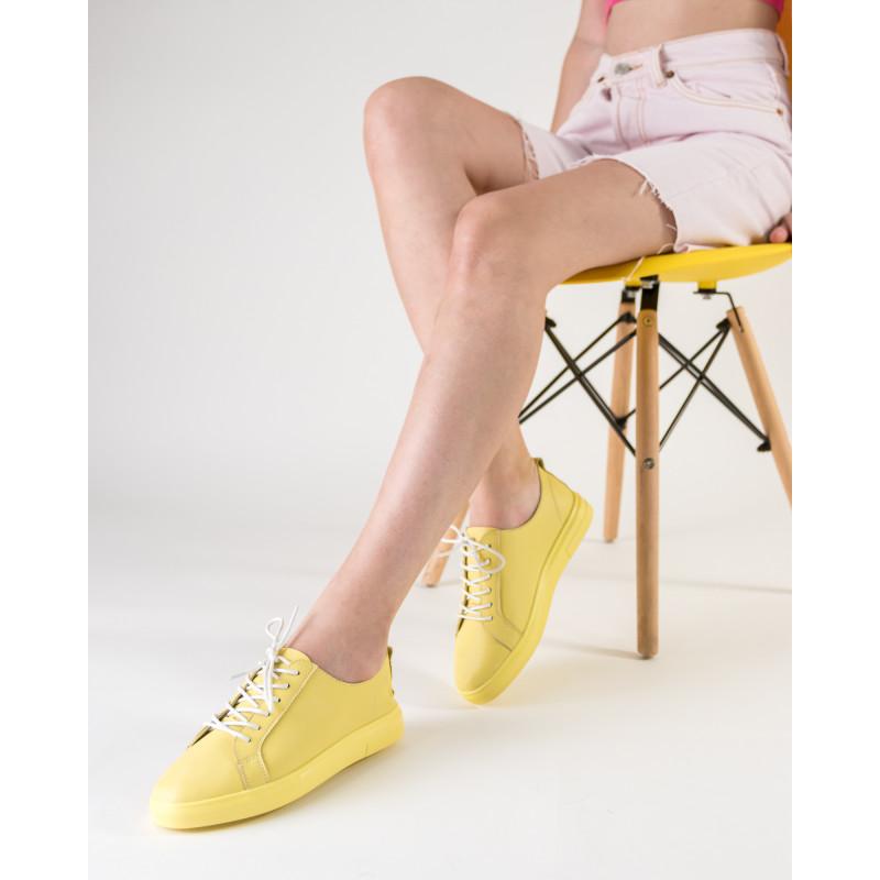 Кеди жіночі жовті на комфортній платформі  Lifeexpert