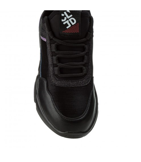 Кросівки жіночі чорні на високій платформі Linda