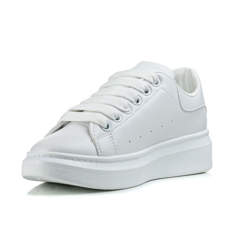 Кросівки жіночі білі на високій підошві Linda