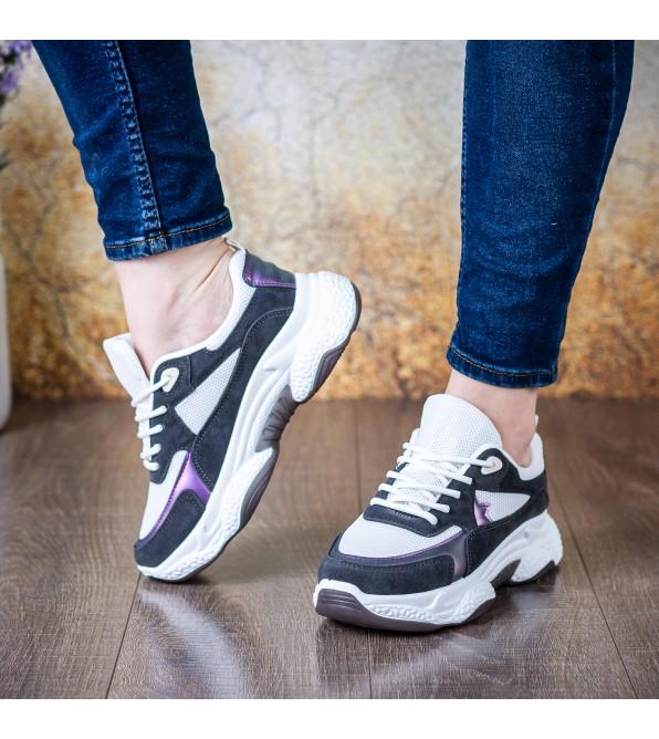Кросівки жіночі чорні на високій платформі комфортні Linda